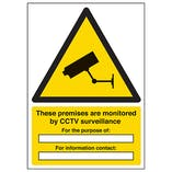 These Premises Are Monitored By CCTV Surveillance - A4