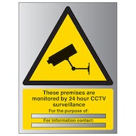 Aluminium Effect - These Premises Are Monitored By 24...
