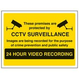 Eco-Friendly Warning Closed Circuit Television - Large Landscape