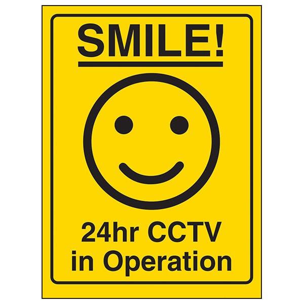 Smile! 24hr CCTV in Operation