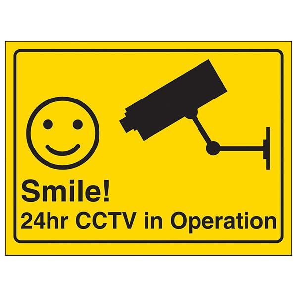 Camera - Smile! 24hr CCTV in Operation