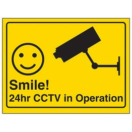Camera - Smile! 24hr CCTV in Operation