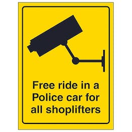 Free Ride In A Police Car For All Shoplifters