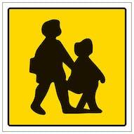 School Bus Children Symbol
