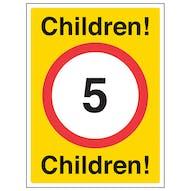 Children! 5mph Children!