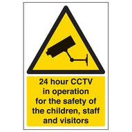 24 Hour CCTV In Operation For The Safety Of Children