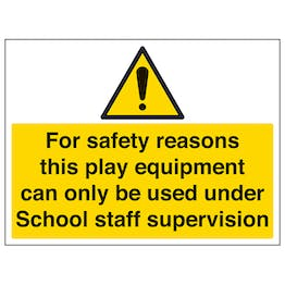 For Safety Reasons, Staff Supervision