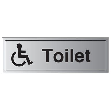 Aluminium Effect - Disabled Toilet