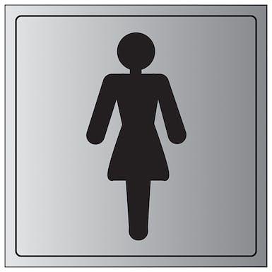 Aluminium Effect - Female Toilet Symbol