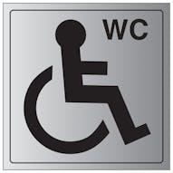 Aluminium Effect - Disabled WC Symbol