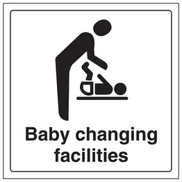 Baby Changing Facilities With Symbol