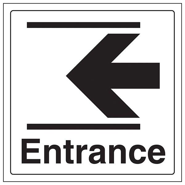 Entrance Arrow Left - Window Sticker