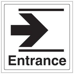Entrance Arrow Right - Window Sticker