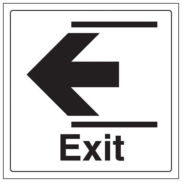 Exit Arrow Left - Window Sticker