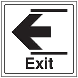 Exit Arrow Left - Window Sticker