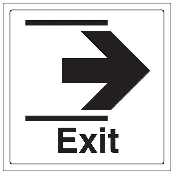 Exit Arrow Right - Window Sticker