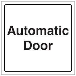 Automatic Door - Window Sticker