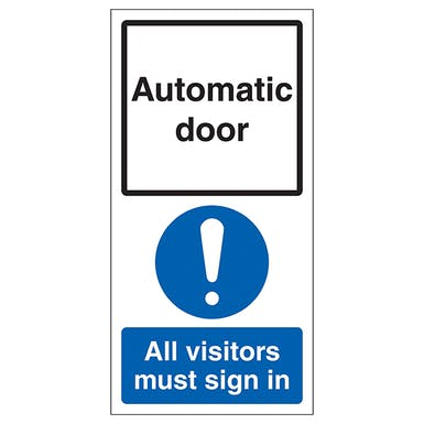 Automatic Door - Visitors Must Sign In