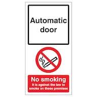 Automatic Door - No Smoking On Premises