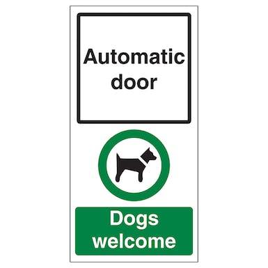 Automatic Door - Dogs Welcome
