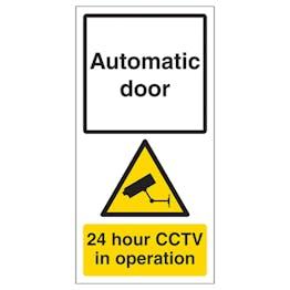 Automatic Door - 24hr CCTV In Operation
