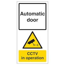 Automatic Door - CCTV In Operation