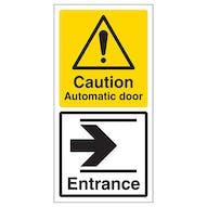 Automatic Door - Entrance Arrow