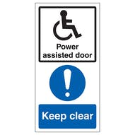 Power Assisted Door - Keep Clear