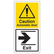 Automatic Door - Exit Arrow