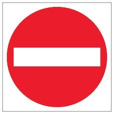 No Entry Symbol Automatic Door