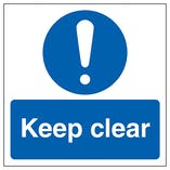 Keep Clear Automatic Door