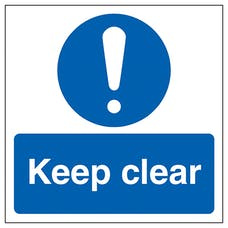 Keep Clear Automatic Door