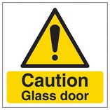 Caution - Glass Door
