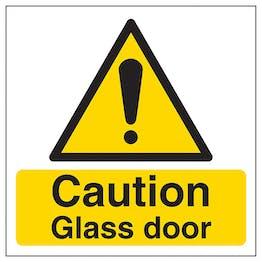 Caution - Glass Door