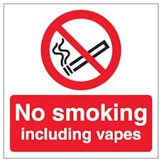 No Smoking Including Vapes