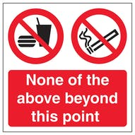 None Of The Above Beyond This Point