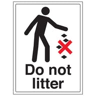 Litter Control Signs