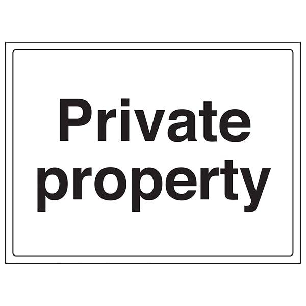 Private Property - Large Landscape