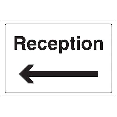 Reception With Arrow Left