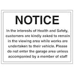 Notice In The Interest Of Health And Safety - Large Landscape