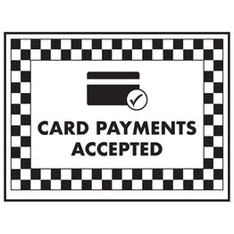 Card Payments Accepted / Card Symbol