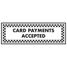 Card Payments Accepted - Landscape