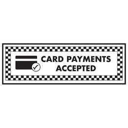 Card Payments Accepted / Card Symbol - Landscape