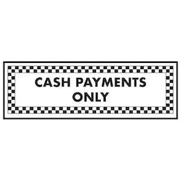 Cash Payments Only - Landscape