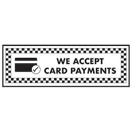 We Accept Card Payments / Card Symbol - Landscape