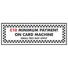 £10 Minimum Payment On Card Machine