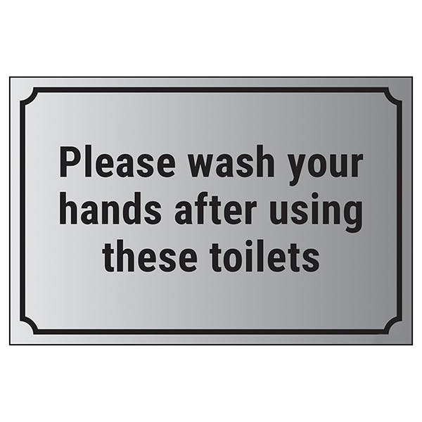 Please Wash Your Hands After Using These Toilets