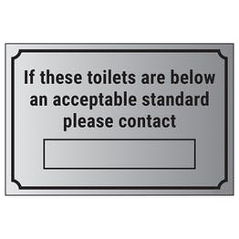 If These Toilets Are Below An Acceptable Standard Please Contact […]