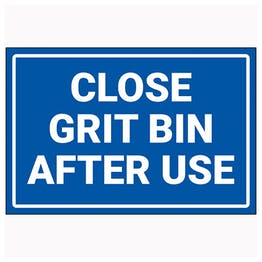 Close Grit Bin After Use
