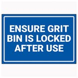Ensure Grit Bin Is Locked After Use